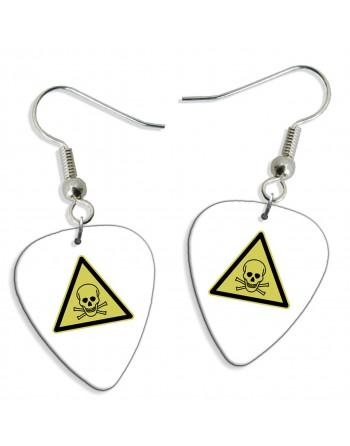 Poison sign pick earrings