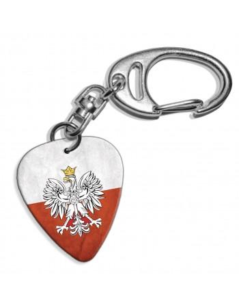 Plectrum sleutelhanger met de afbeelding van Poolse Grunge vlag
