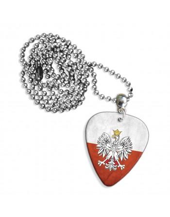 Poolse Grunge vlag ketting met plectrum
