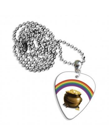 Pot met goud en regnboog ketting met plectrum