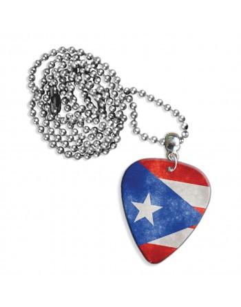 Puerto Rico Grunge vlag ketting met plectrum