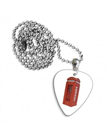 Engelse telefooncel ketting met plectrum