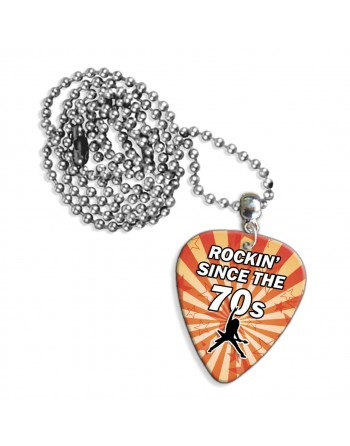 Rocking Since the 70's ketting met plectrum