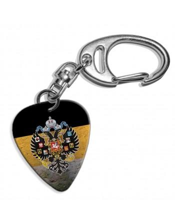 Plectrum sleutelhanger met de afbeelding van Russische Grunge vlag