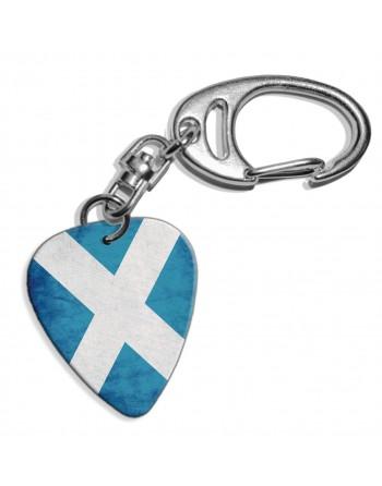 Plectrum sleutelhanger met de afbeelding van Schotse St. Andrews vlag