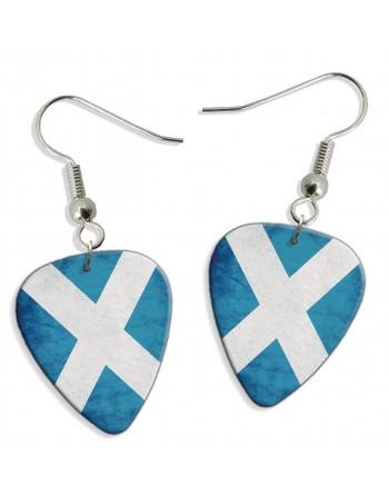 Schotse St. Andrews vlag plectrum oorbellen