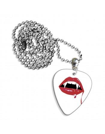 Vampier tanden ketting met plectrum