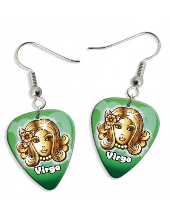 Virgo zodiac pick earrings