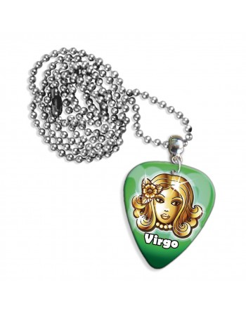 Virgo zodiac necklace with...