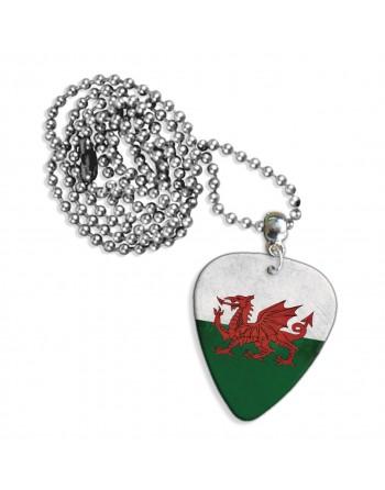 Wales Grunge vlag ketting met plectrum