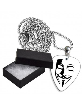 Anonymous masker aluminium plectrum ketting