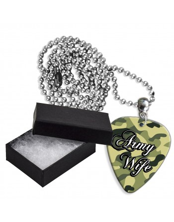 Army Wife aluminium plectrum ketting