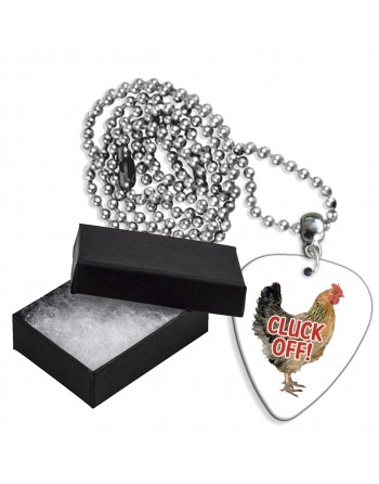 Cluck Off! aluminium plectrum ketting