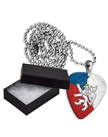 Tsjechische Republiek vlag aluminium plectrum ketting