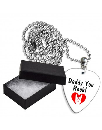 Daddy You Rock! aluminium plectrum ketting