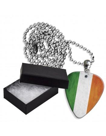 Ierse Grunge vlag aluminium plectrum ketting