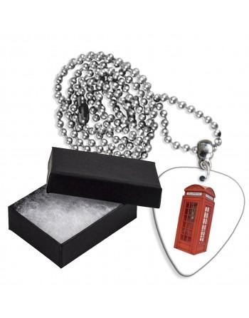 Engelse telefooncel aluminium plectrum ketting
