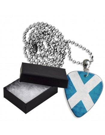 Schotse St. Andrews vlag aluminium plectrum ketting