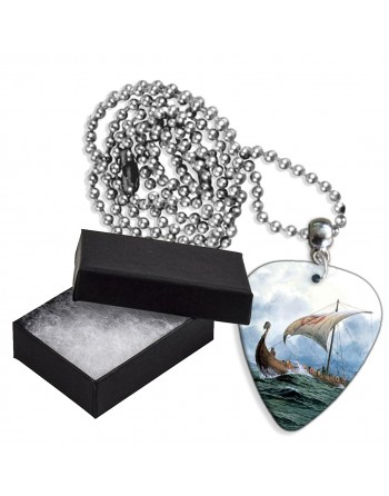 Viking boot aluminium plectrum ketting