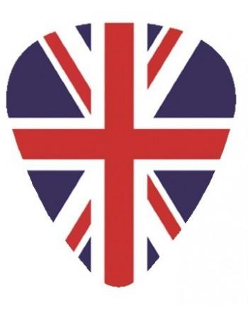Plectrum met de afbeelding van Engelse vlag