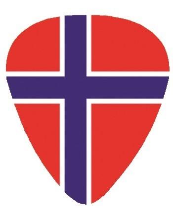Plectrum met de afbeelding van Noorse vlag