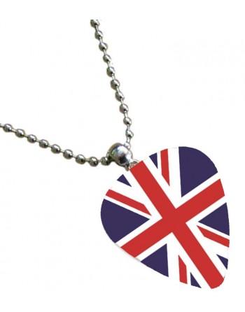 Plectrum ketting met de afbeelding van Engelse vlag