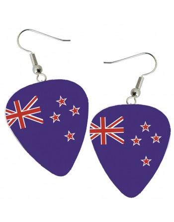 Australian flag pick earrings