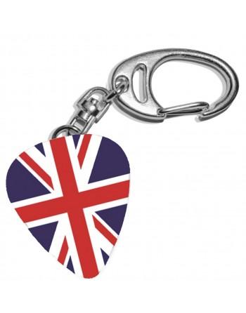 Plectrum sleutelhanger met de afbeelding van de Engelse vlag