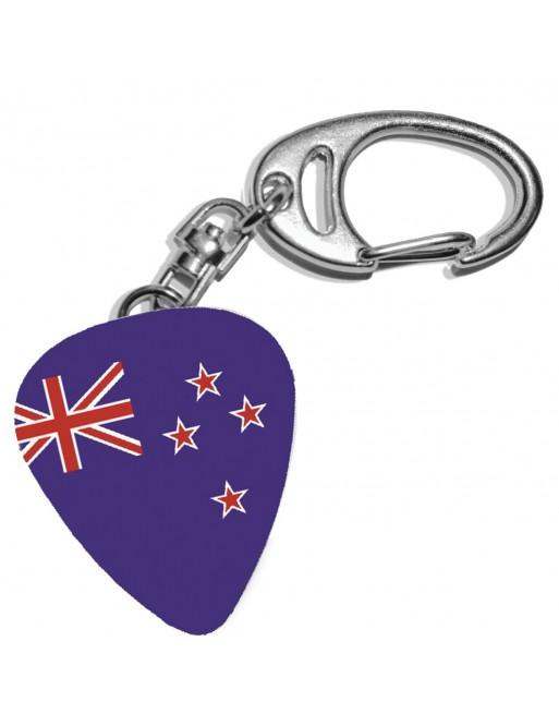 Plectrum sleutelhanger met de afbeelding van de Australische vlag