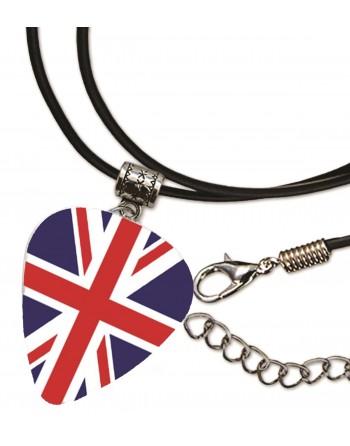 Plectrum ketting met de afbeelding van de Engelse vlag
