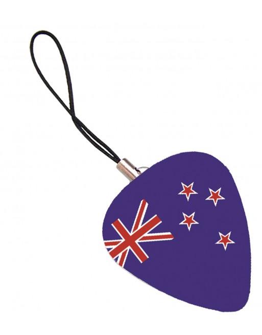Plectrum telefoonhanger met de afbeelding van de Australische vlag vlag