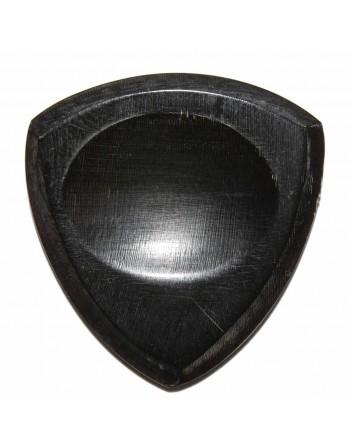 Handgemaakte buffelhoorn plectrum gebrand