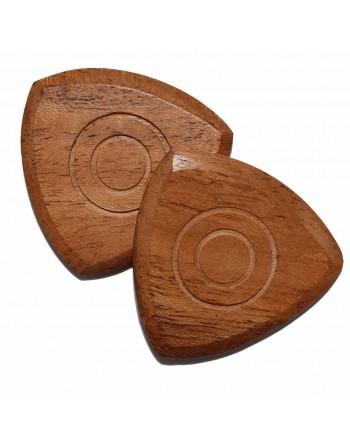 Pokhout tri pick houten plectrum