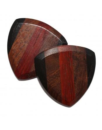 Ebben, Cocobolo & Padoek houten plectrum