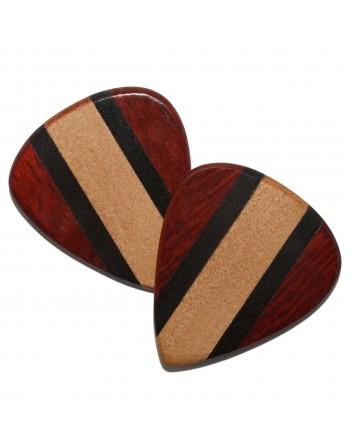 Ebben, Cocobolo & Esdoorn houten plectrum