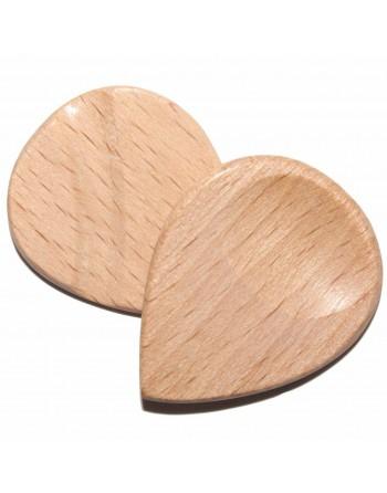 White beech wood Jazz pick