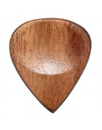 Pokhout houten plectrum gebrand