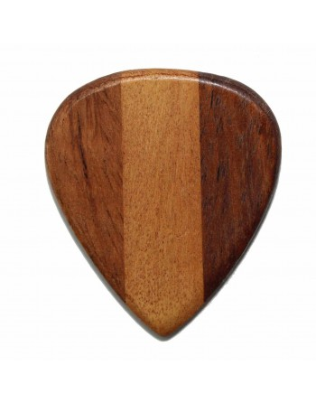 Cocobolo & Perzik houten plectrum