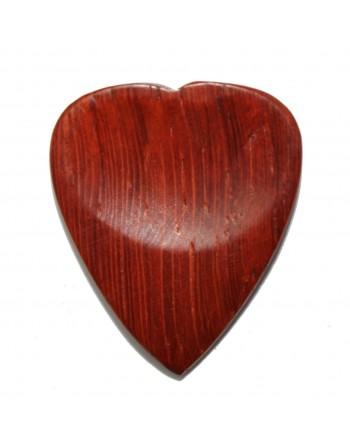 Padoek hartormige houten plectrum