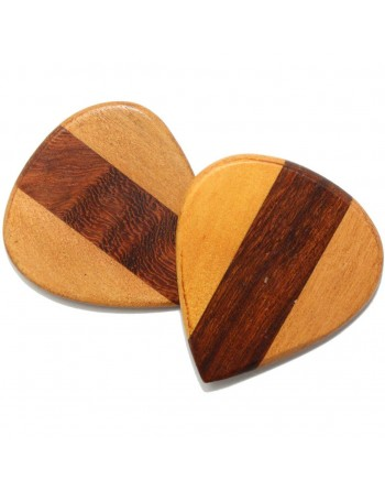 Perzik & Cocobola houten plectrum