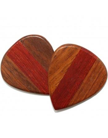 Cocobolo & Padoek houten plectrum