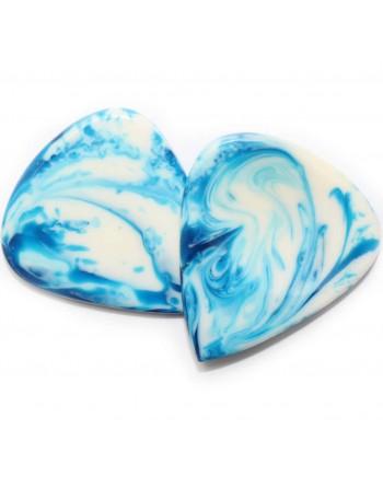 Handgemaakte epoxy plectrum blauw 2.00 mm