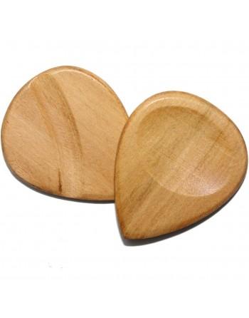 Peach wooden plectrum