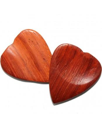 Padauk heart-shaped wooden...