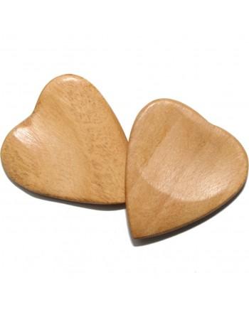 Haldina hartormige houten plectrum