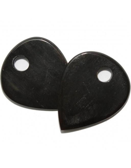 Handgemaakte buffel hoorn plectrum zwart