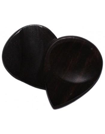 Ebony wooden plectrum