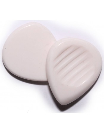 Chuncky plectrum 5.00 mm virgin white