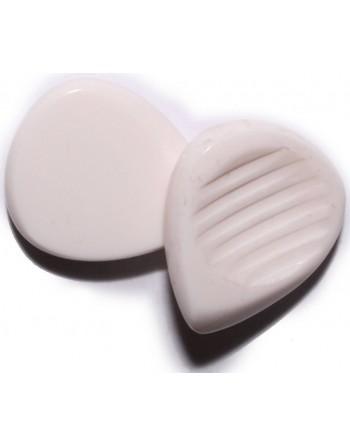 Chuncky plectrum 7.00 mm virgin white