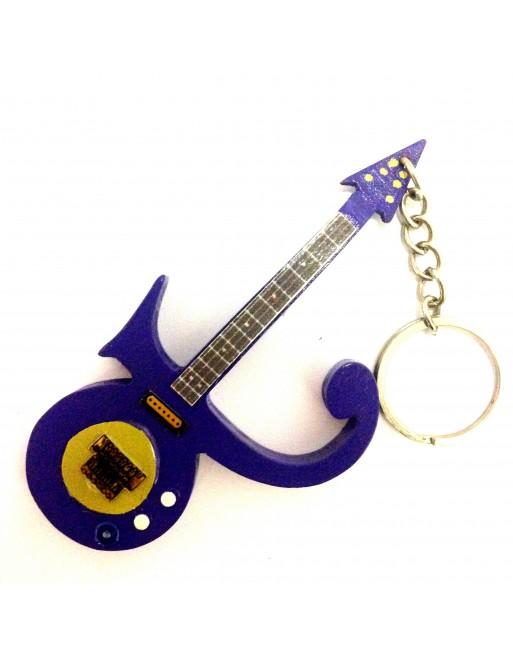 Prince miniatuur gitaar sleutelhanger
